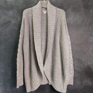 MOSSIMO | Gray Shawl Collar Cardigan Sweater Sz XL